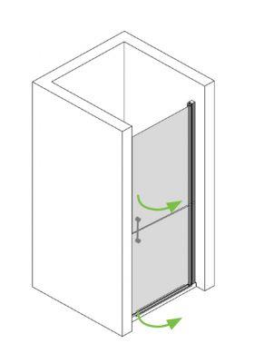 pflegedusche nische 80 cm f r barrierefreies bad ihr bad info. Black Bedroom Furniture Sets. Home Design Ideas