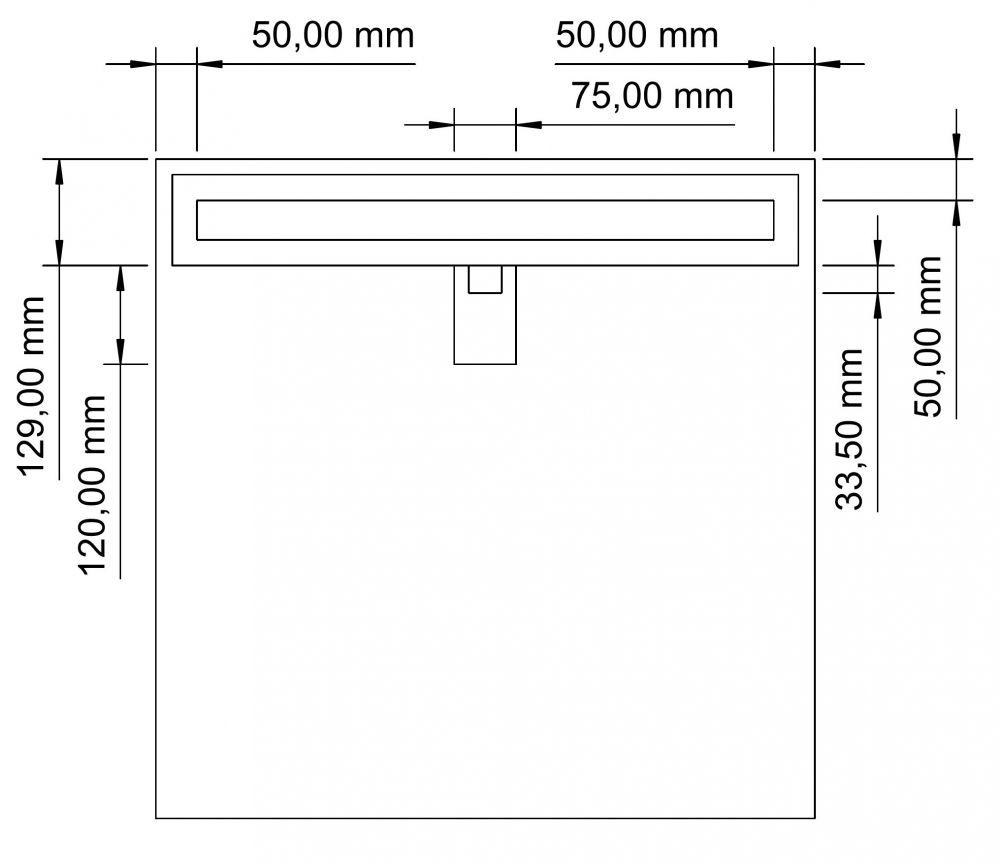 begehbare dusche mit rinne ma anfertigung bis 1 2 m mit. Black Bedroom Furniture Sets. Home Design Ideas