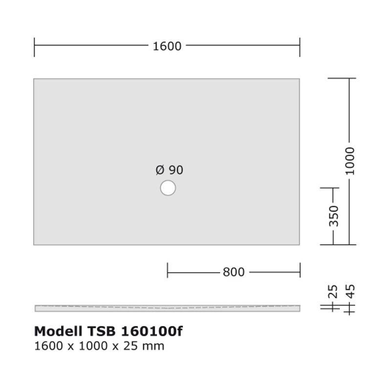 Komplett Set 160x100 Cm Duschtasse Montagerahmen Siphon Von