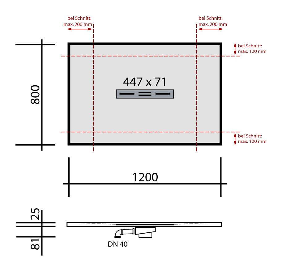 begehbare dusche mineralgu 120 x 80 bodengleiche dusche walk in dusche ebenerdige dusche be. Black Bedroom Furniture Sets. Home Design Ideas