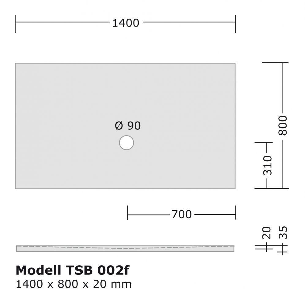 begehbare dusche aus acryl 1400x800 mm bodengleiche dusche walk in dusche ebenerdige dusche be. Black Bedroom Furniture Sets. Home Design Ideas