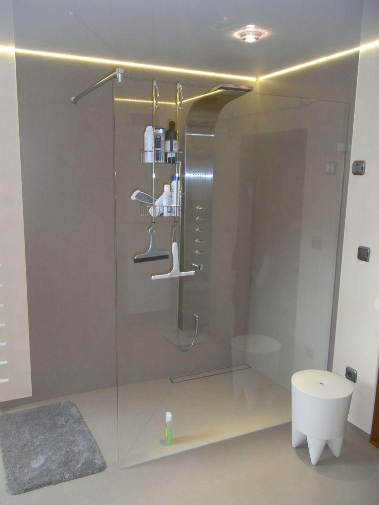 begehbare dusche bis 2 2 m einbaufertig mit kerlite belegt bodengleiche dusche ebenerdige. Black Bedroom Furniture Sets. Home Design Ideas