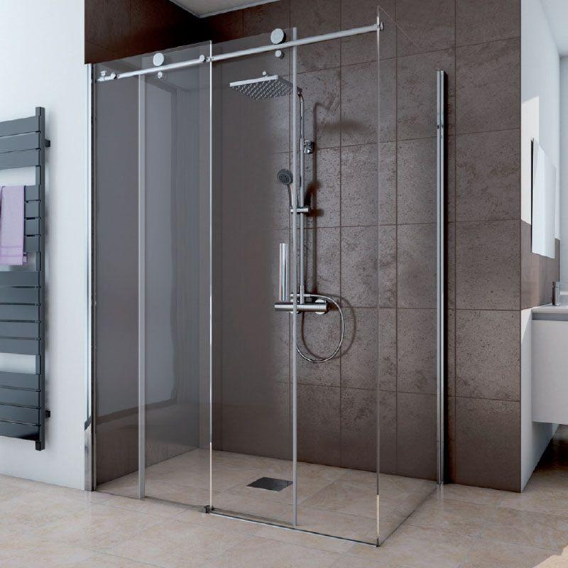 duschkabine 110x90 eckeinstieg dusche echtglas ihr bad info. Black Bedroom Furniture Sets. Home Design Ideas