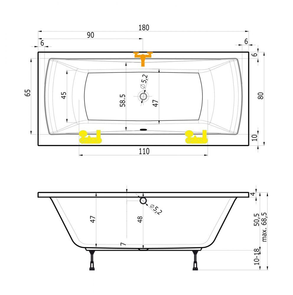 Badewanne Für 2 Mit Wannenträger Und Ablauf Ihr Badinfo