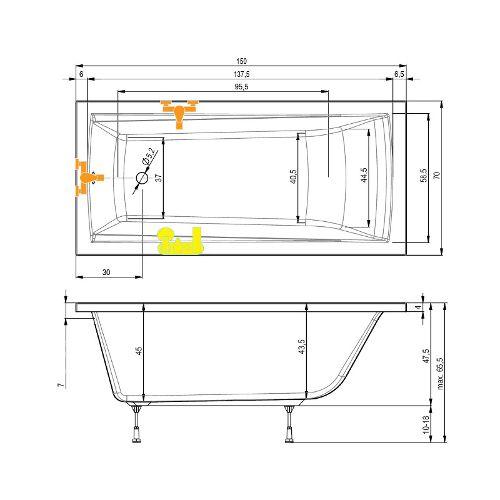 kleine badewanne 150 mit wannentr ger trend ihr bad info. Black Bedroom Furniture Sets. Home Design Ideas
