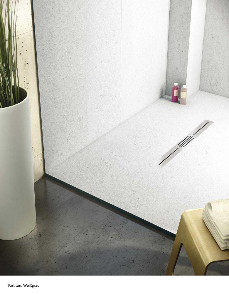 begehbare dusche mineralgu 200 x 100 bodengleiche dusche walk in dusche ebenerdige dusche be. Black Bedroom Furniture Sets. Home Design Ideas