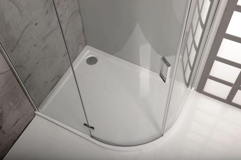 mineralguss duschwanne 120x90 viertelkreis r55. Black Bedroom Furniture Sets. Home Design Ideas
