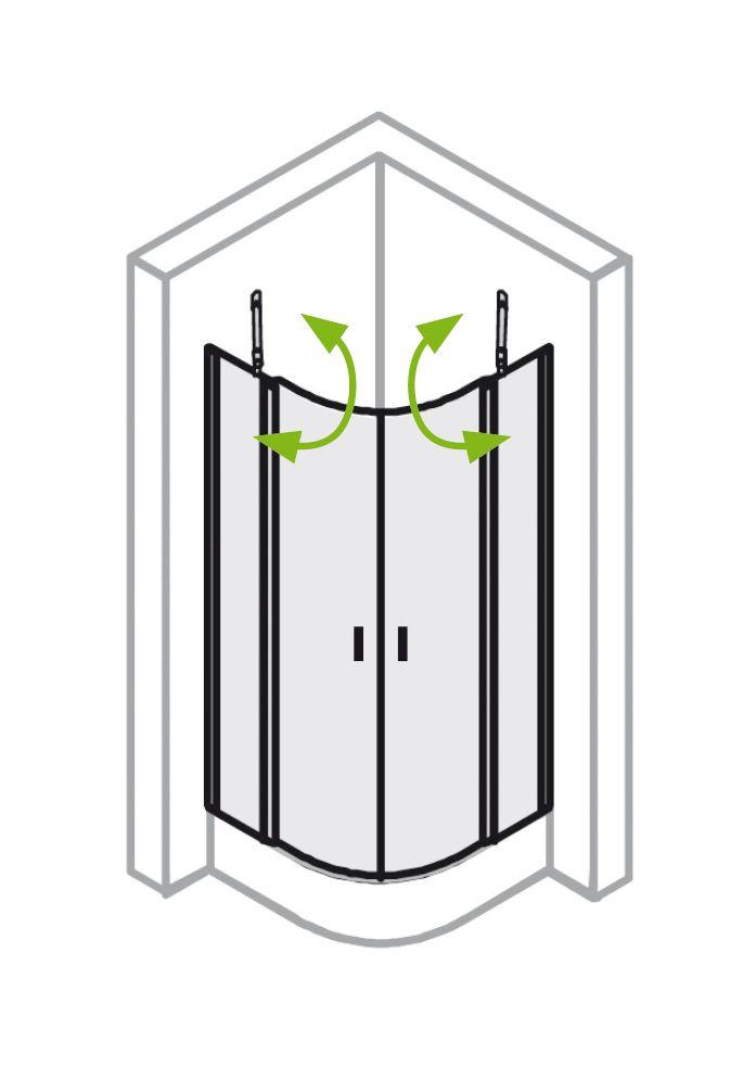 runddusche 90x90 cm mit dreht r viertelkreis von ihr bad info. Black Bedroom Furniture Sets. Home Design Ideas