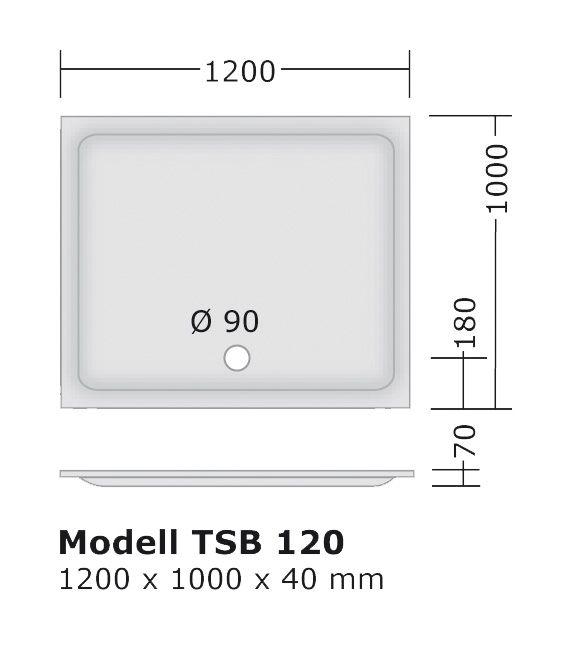 duschwanne 120x100 4 cm flach produziert in deutschland flache duschtasse 100x120 f r. Black Bedroom Furniture Sets. Home Design Ideas