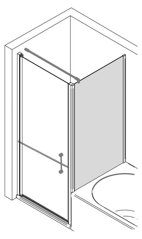 verk rzte seitenwand duschwand 80 cm ihr bad info. Black Bedroom Furniture Sets. Home Design Ideas