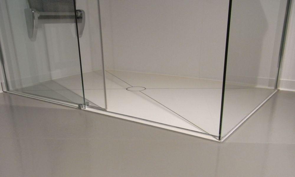 begehbare dusche bis 1 8 m einbaufertig mit kerlite belegt bodengleiche dusche ebenerdige. Black Bedroom Furniture Sets. Home Design Ideas