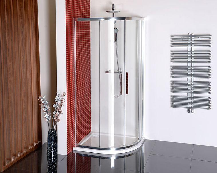duschkabine 100x80 cm ✓ verlängerter viertelkreis ✓ von ihr-bad