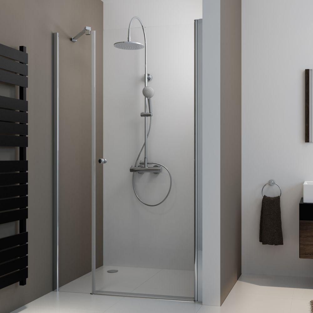 Duschtür 120x200 cm ✓ Nischen-Drehtür ✓ von IHR-BAD.INFO