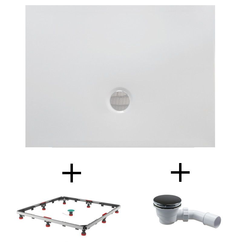 duschwanne 110x90 duschwannenfuesse siphon ihr bad info. Black Bedroom Furniture Sets. Home Design Ideas