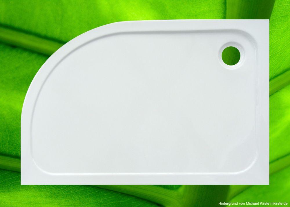 duschtasse 120x80 cm 2 5 cm radius 55 cm viertelkreis duschtassen duschbadewanne anti rutsch. Black Bedroom Furniture Sets. Home Design Ideas